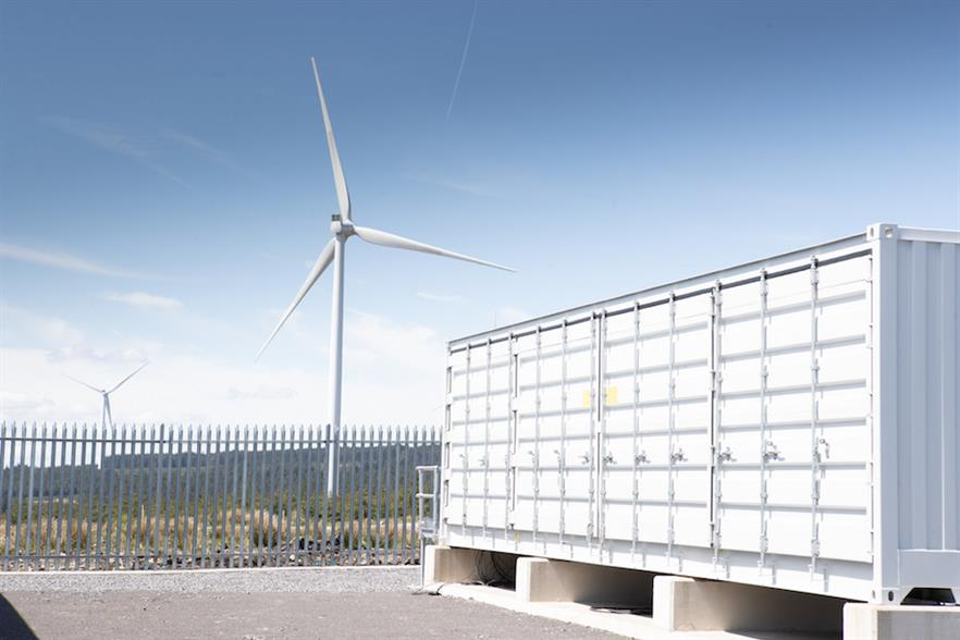 Vattenfall's 22MW energy storage facility in south Wales is believed to the UK's largest battery co-located with an onshore wind farm