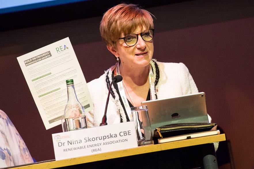 REA chief executive Nina Skorupska presented the manifesto in Glasgow