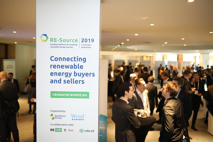 The RE-Source 2019 event in Amsterdam brings together potential renewables suppliers and buyers