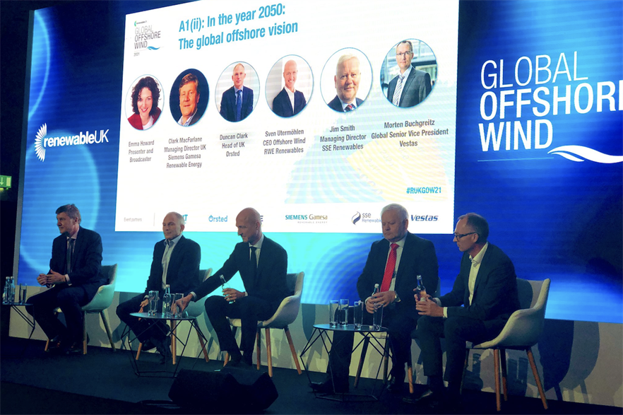 Offshore wind leaders discuss the future of the sector at RenewableUK's event in London (pic credit: SSE Renewables)
