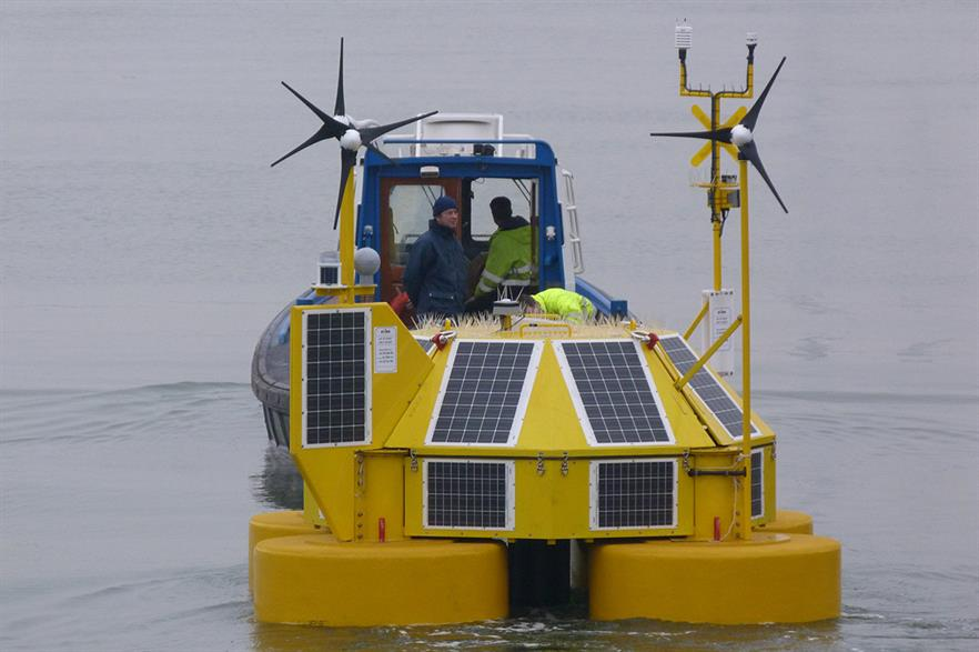 RWE installs an Eolos buoy off the coast of the Netherlands