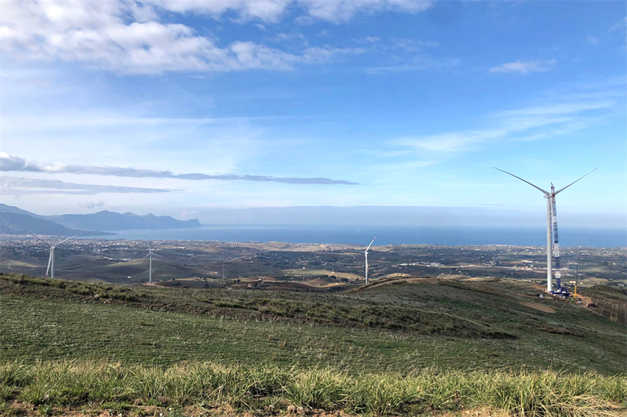 RWE's 13.6MW Alomo II wind farm in Sicily, using Goldwind turbines, was one of the few projects commissioned in Italy last year