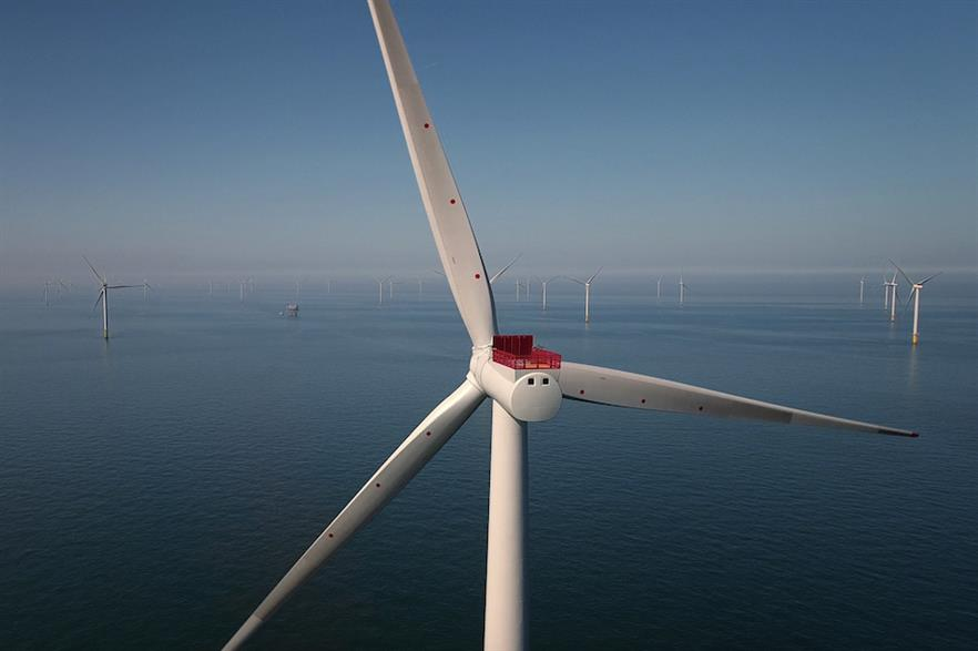 The UK currently has 10.4GW of operational offshore wind capacity, including Ørsted's Race Bank project, according to Windpower Intelligence