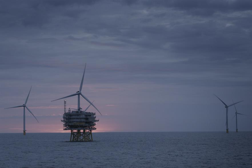 Ørsted's 573MW Race Bank wind farm off the east coast of England was commissioned in February