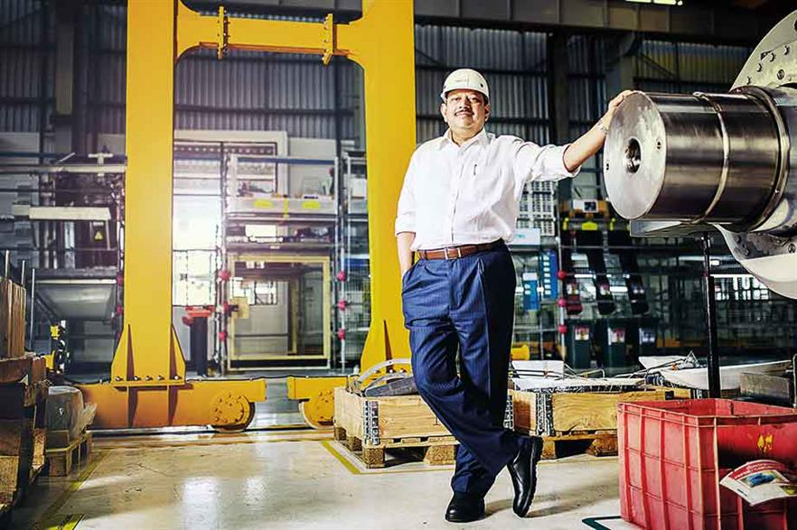 Big hitter… Since joining Gamesa in 2009, Ramesh Kymal made the firm a market leader in India, with the country accounting for about 30% of global sales pre-merger