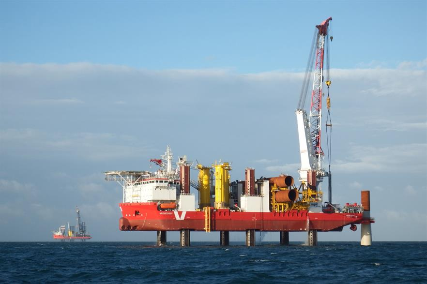 Construction, construction, construction... the UK installed on average more than one turbine a day in 2017 (pic: MPI Offshore)