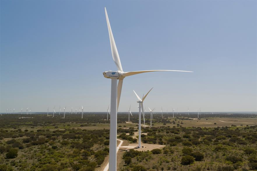 The Rattlesnake project comprises 64 of Goldwind's GW 109/2500 turbines