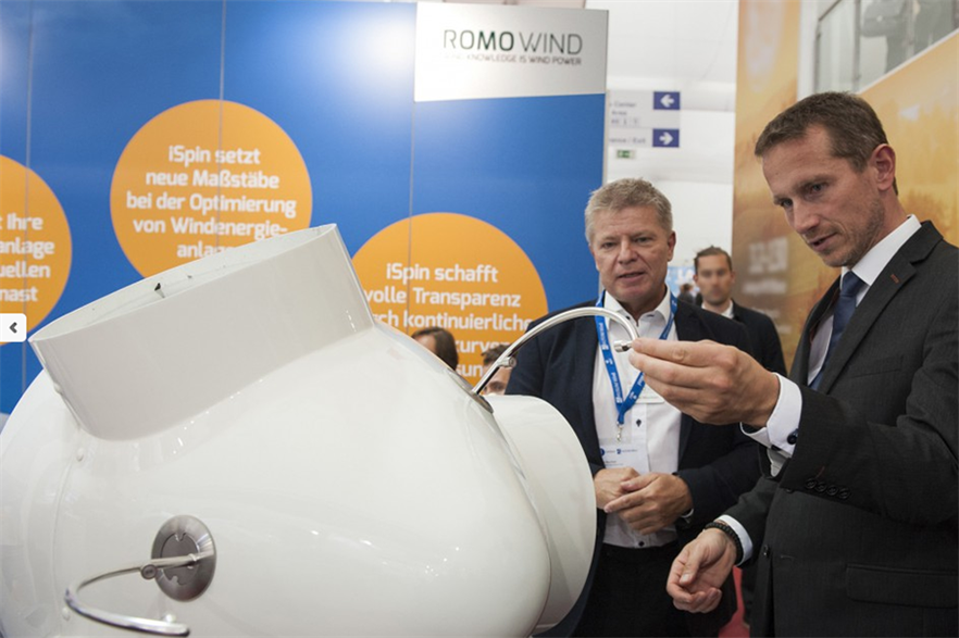 Romo Wind's iSpin on display at Husum Wind 2015