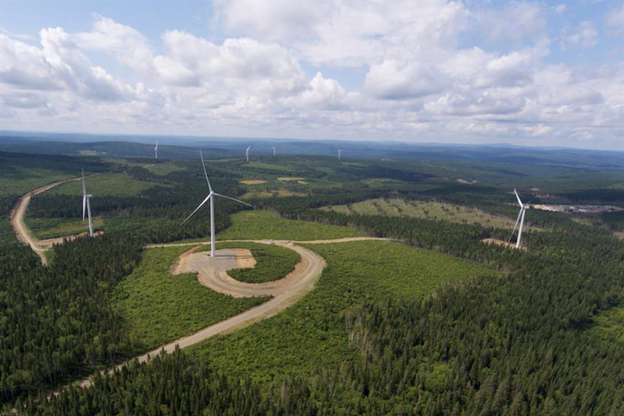 Boralex acquired Invenergy's interests in five wind farms in Quebec, including the 74.8MW Roncevaux project (above)