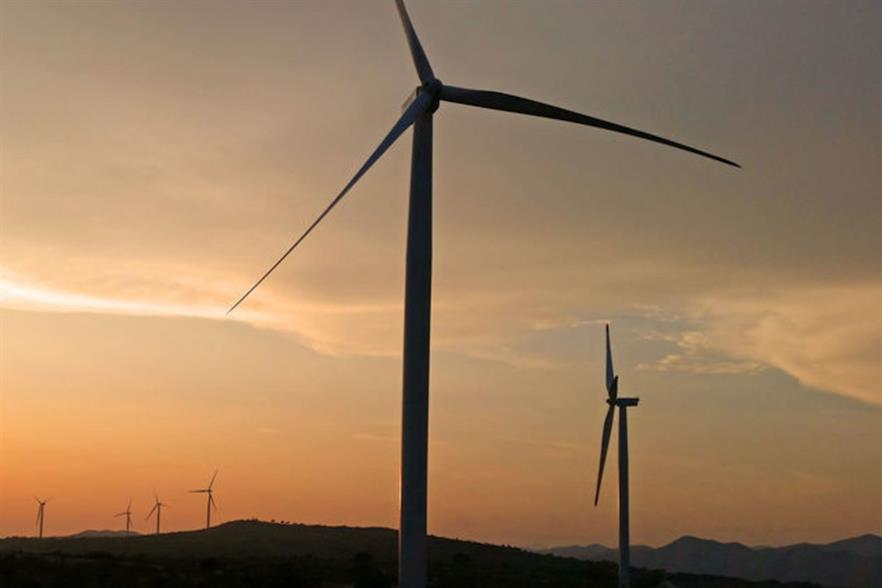 The 34.2MW Rudine project (above) comprises 12 of GE's 2.85-103 turbines