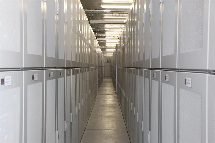 SCE's 32MW lithium ion battery storage system in Tehachapi, California (pic: SCE)