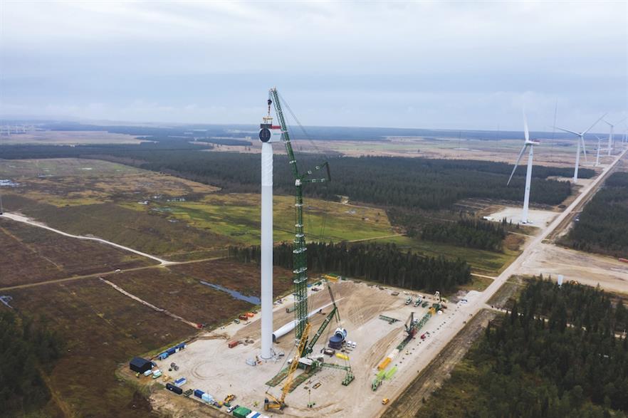 SGRE's SG 11.0-193 DD undergoing testing at Osterild in Denmark