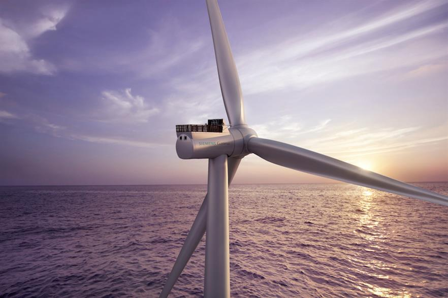 Siemens Gamesa's SG 8.0-167 DD turbine has a power-mode option to raise output to 9MW
