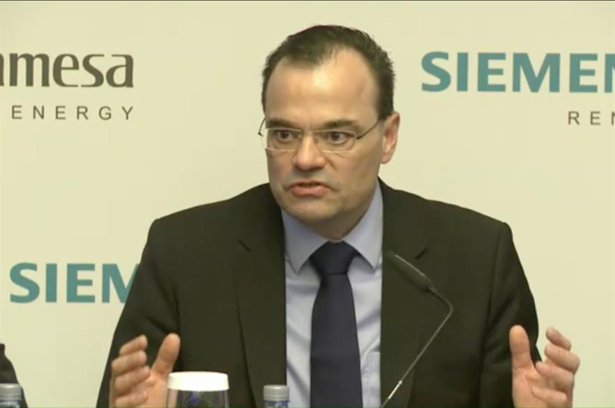 Siemens Gamesa CEO Markus Tacke, at the firm's Capital Markets Day 2018 in Madrid