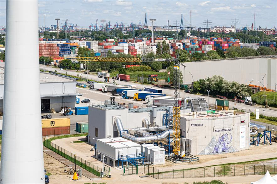 The thermal storage project is located in Hamburg, northern Germany
