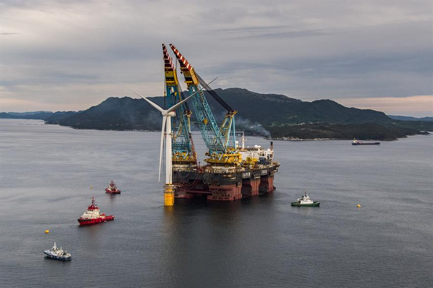 All five 6MW turbines have been installed on the floating foundations at a site in Norway