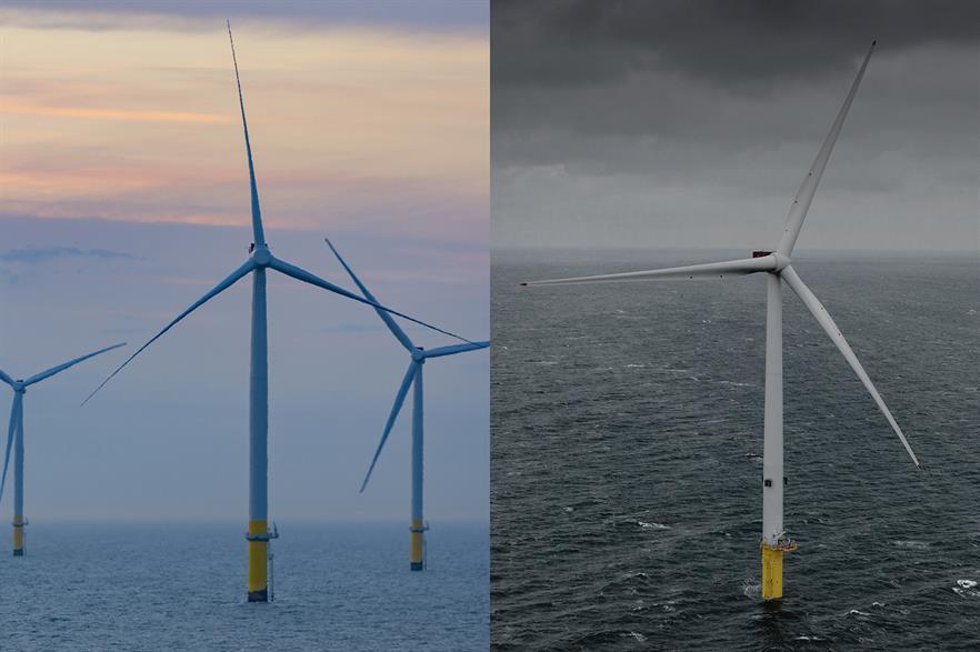 MHI Vestas' V164 turbine is loosening SGRE's grip on the global offshore market (Pics: Ørsted / MHI Vestas)