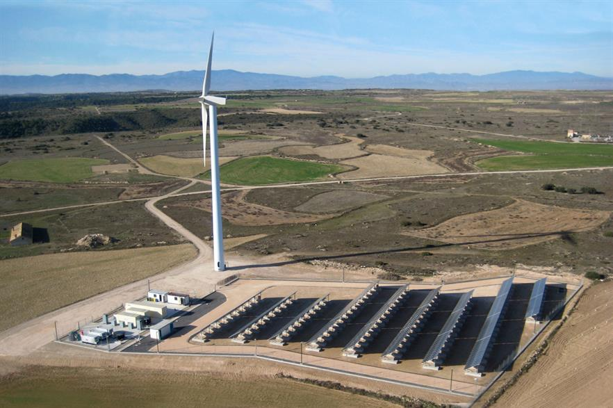 Gamesa's off-grid hybrid prototype project in Spain, installed in 2016