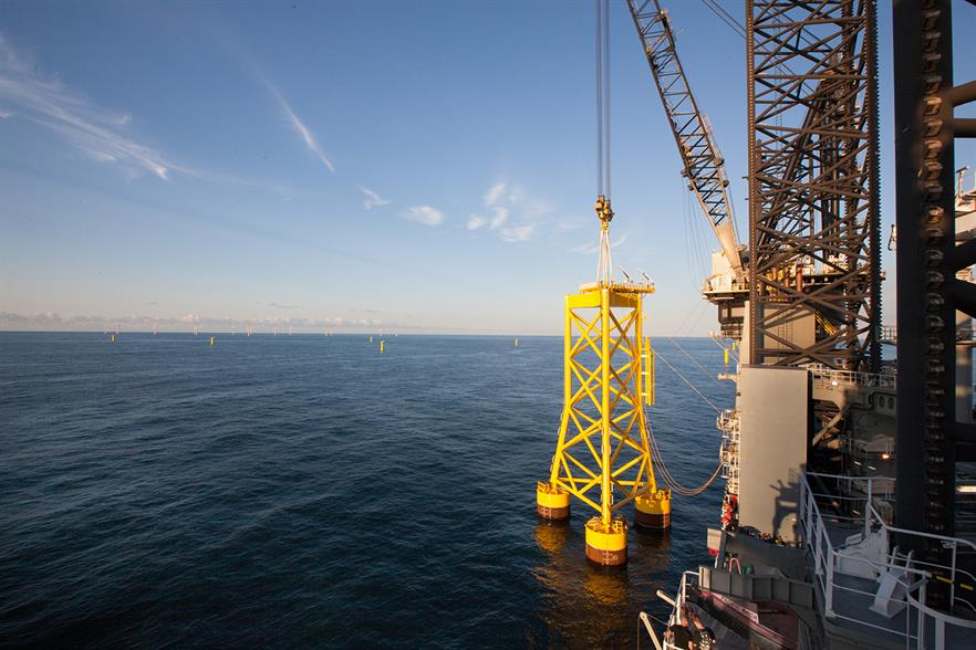 A prototype of the SPT suction bucket foundation was installed at Borkum Riffgrund 1