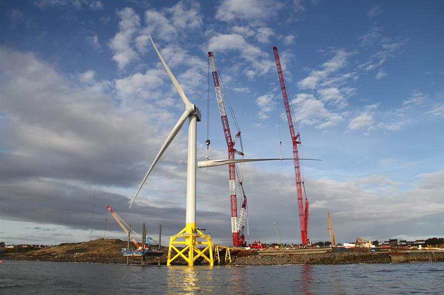 The ORE Catapult Levenmouth turbine gives access to industry research projects (pic: Gorzkowski/Whitehouse Studios)