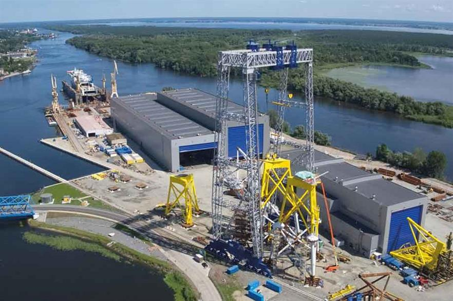 Supply chain… An ST3 offshore facility in Szczecin, designed for the production of transition pieces, jacket and monopile foundations