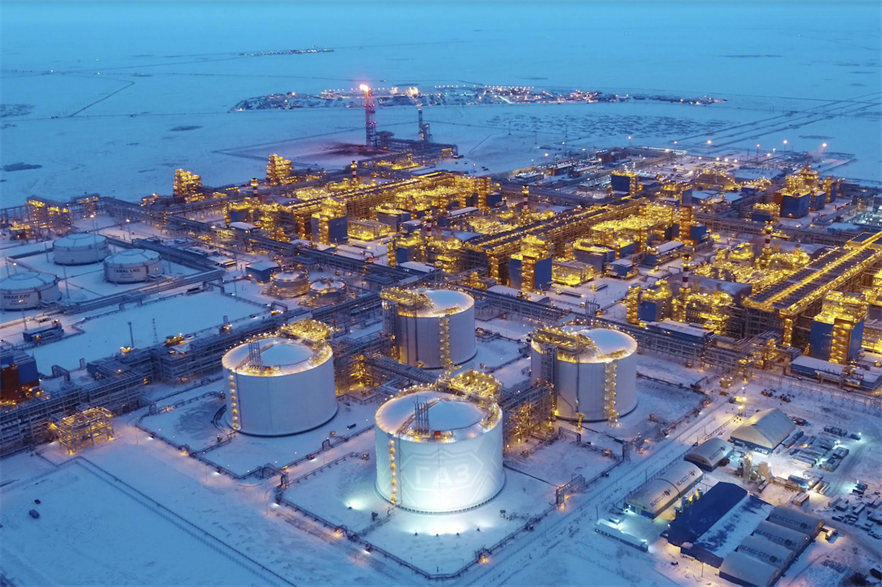 Novatek's liquefied natural gas (LNG) plant in the Yamal Peninsula