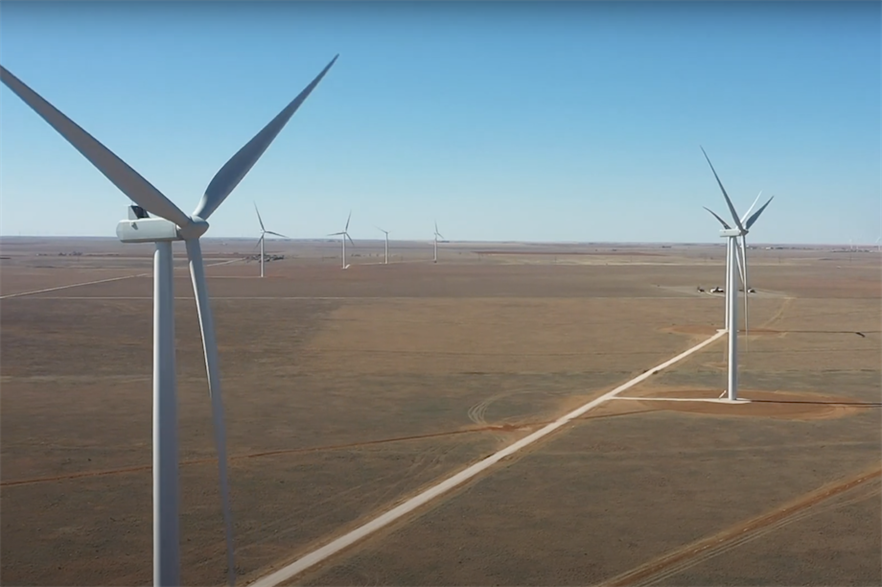 Xcel Energy's 522MW Sagamore project was the largest wind farm commissioned globally in December, according to Windpower Intelligence