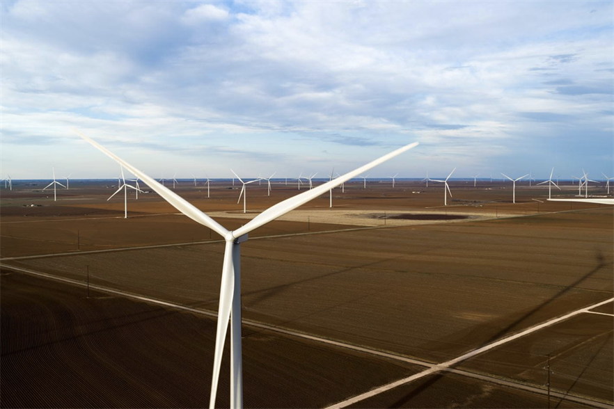 Ørsted's onshore operational and under-construction portfolio has now reached 4GW, and includes the Sage Draw wind farm in Texas (above)