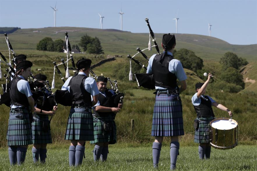 The Sanquhar wind farm was opened in early July (pic credit: Nestlé)