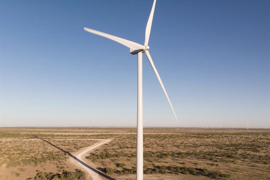 Invenergy's 300MW Santa Rita East wind farm was one of three 100MW-plus Texan projects fully commissioned in July