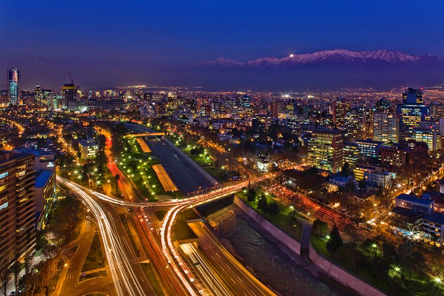 Santiago... Chile sources 40% of its demand from renewable sources, but it wants more (pic: Javmoraga / WikiCommons)