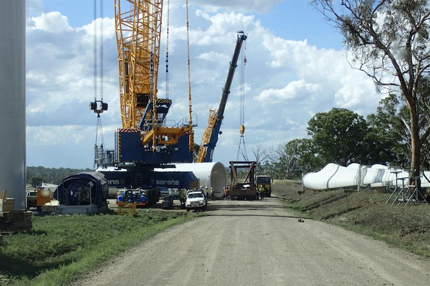 Construction underway at the Sapphire site in New South Wales, Australia (pic credit: CWP Renewables)