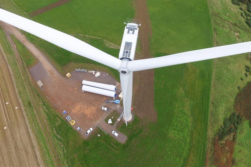 The project comprises three Nordex 2.5MW turbines