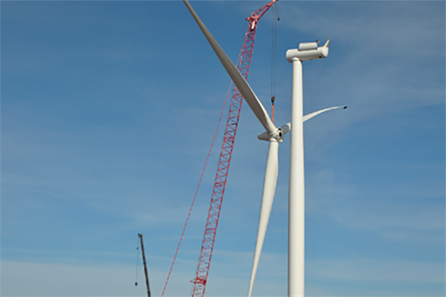 Siemens 2.3MW turbines are installed on the projects