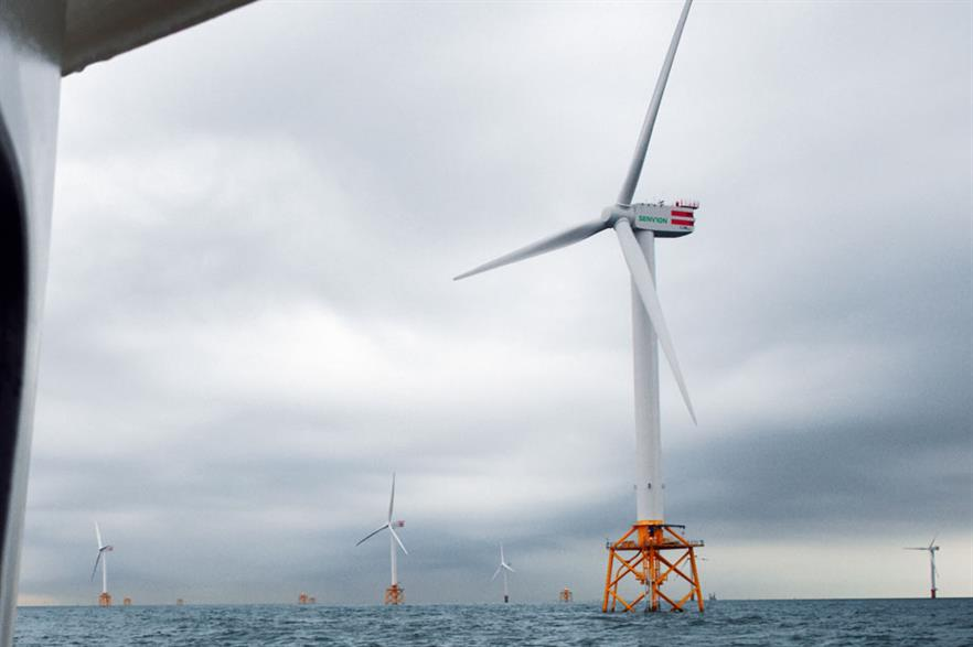 Senvion's offshore turbine in operation at Thornton Bank. The latest model has 152-metre rotor diameter