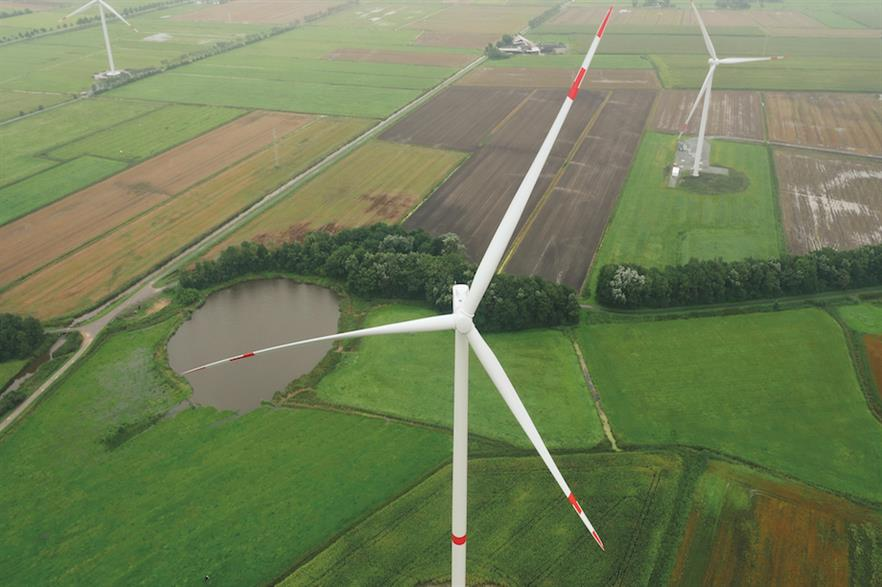 Senvion's 3.6M140 EBC at the Windtestfeld Nord site near Husum, Germany