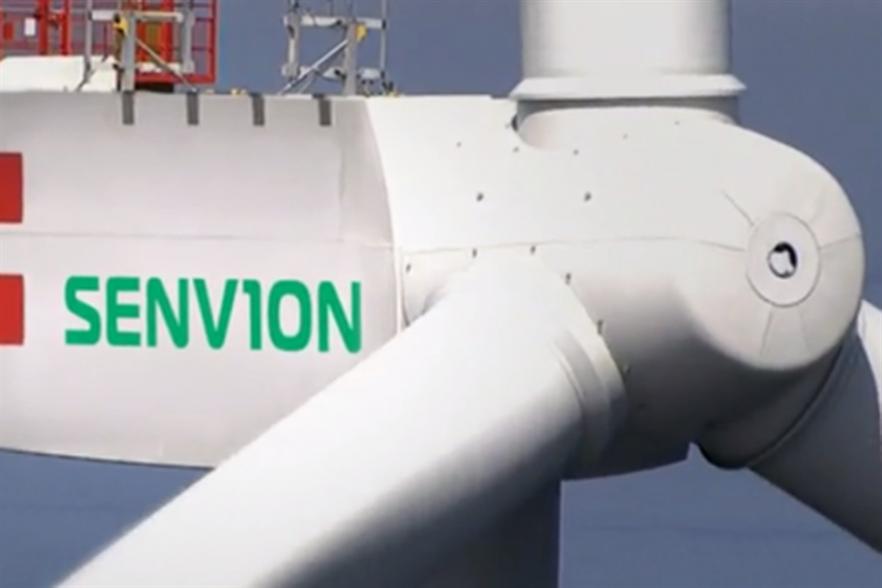 Senvion's range includes its 126-6.2MW turbine