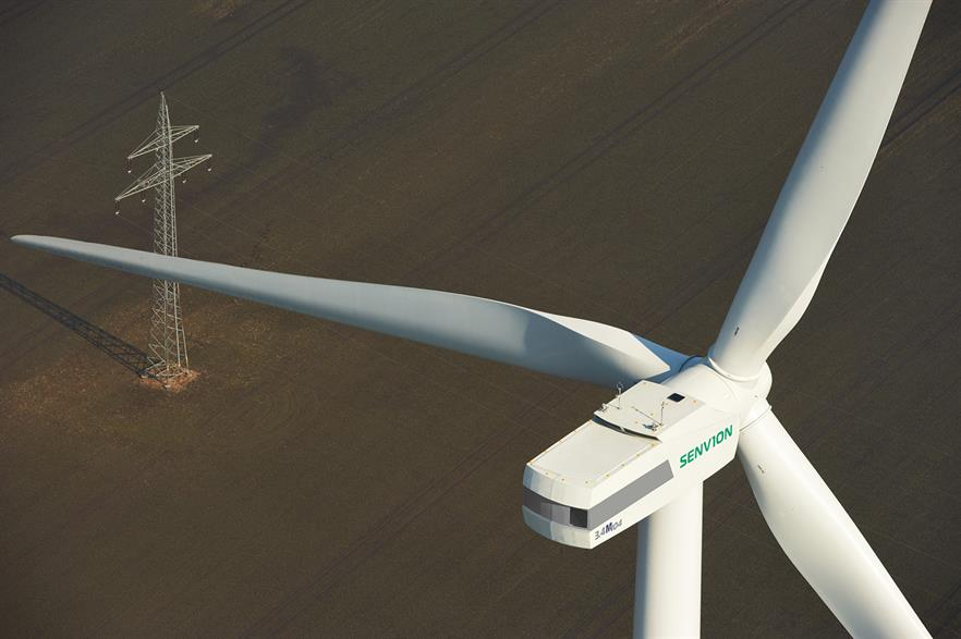 Senvion will use 68-metre blades on the 3.4MW turbine