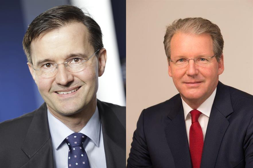 COO Christoph Seyfarth, left, has left Senvion; CEO Jurgen Geissinger will take on the responsibilities temporarily