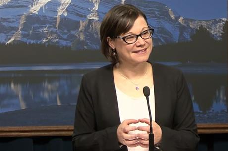 Alberta's new environment minister Shannon Phillips is considering a big increase in wind capacity