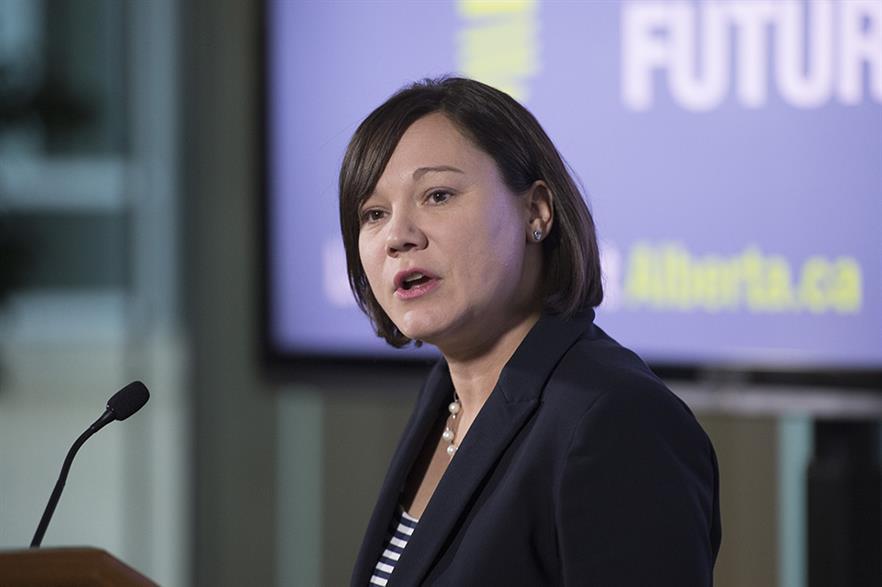 Alberta's environment minister Shannon Phillips (pic: Premier of Alberta)