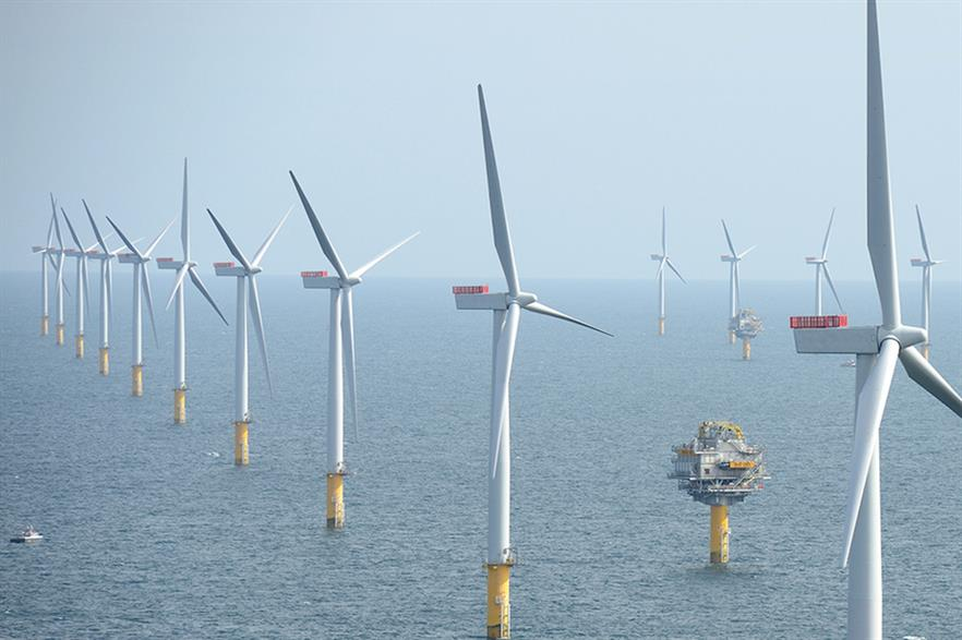 Power from North Sea wind farms, such as Sheringham Shoal (above), could be stored in undersea rock formations, researchers suggest (pic: Alan O'Neill)