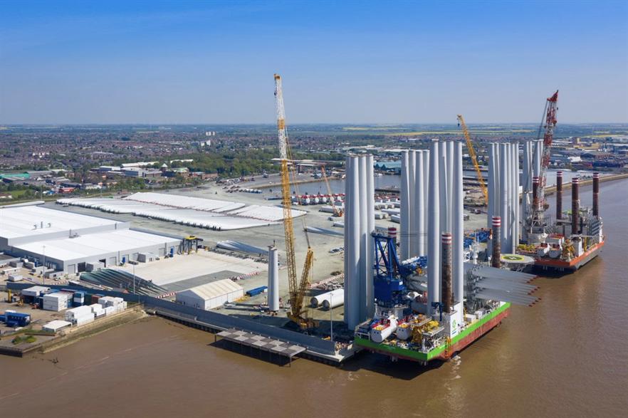 Siemens Gamesa's blade factory in Hull, north-east England