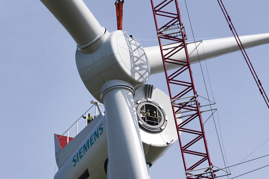 Siemens' 6MW turbine will be installed at Veja Mate