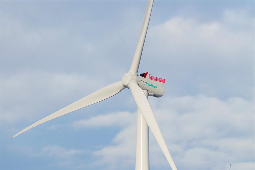 Siemens 7MW turbine was being tested in Osterild, Denmark