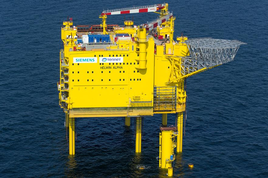 Siemens has already supplied several offshore connections to TSO Tennet