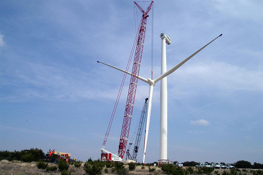 The SWT-2.3-108 turbine is at Spinning Spur.