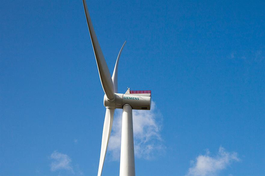 Siemens SWT-7.0-154… Started life as a 6MW unit, and will be upgraded to 8MW+