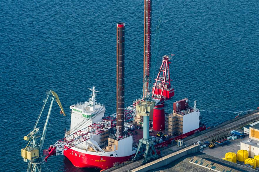 The Wind Server vessel is currently being built in Wismar, Germany