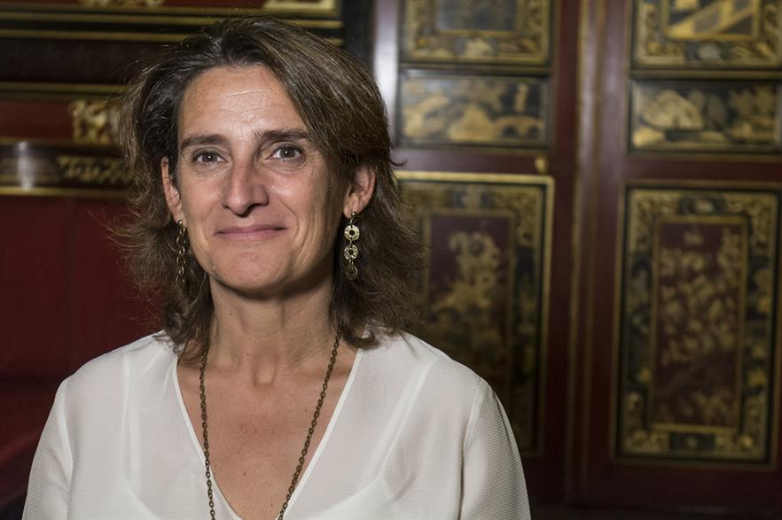 Spain's energy and environment minister Teresa Ribera (pic Casade America)